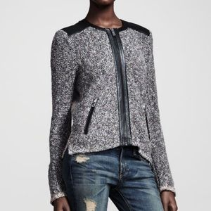 Rag & Bone Lory Tweed Zip Jacket